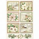 Stamperia - Rice Paper Sheet A4 - Winter Botanic Stamps
